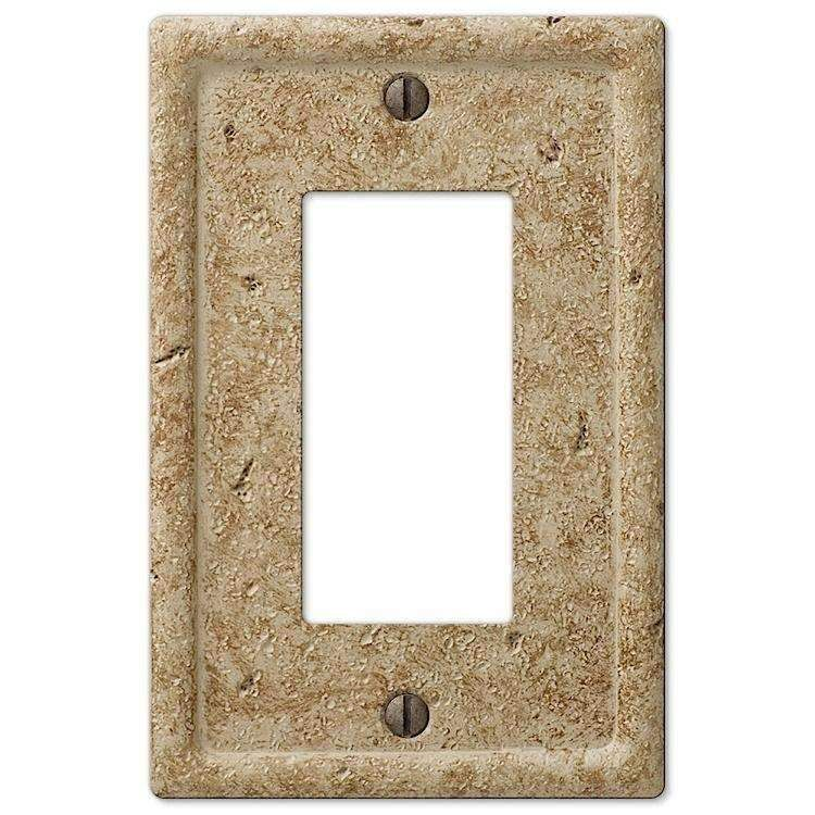 Noce Stone 1 Rocker Gfi Plates On Wall Decor Switch Plate Covers