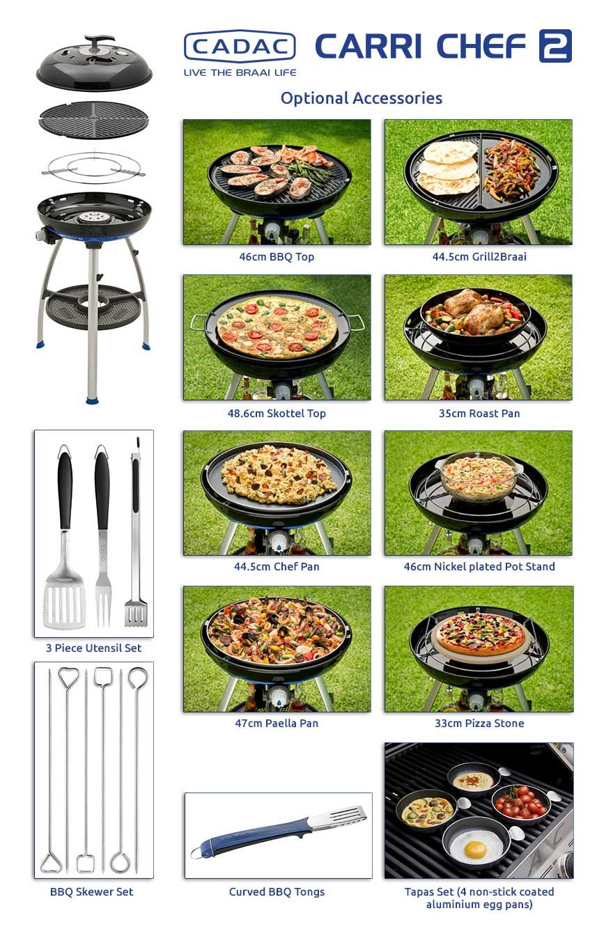 Cadac Carrichef2 Get The Most Out Of Your Bbq With Handy Accessories Cooking Camping Grilling Bbq Supplies Camping Grill Camping Accessories