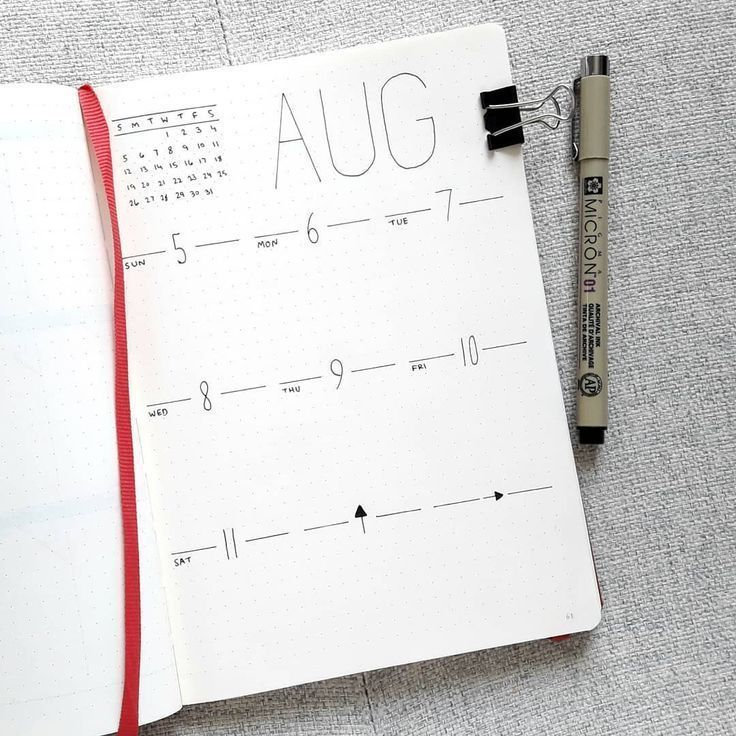 31+ Easy Minimalist Bullet Journal Weekly Spreads for Busy People