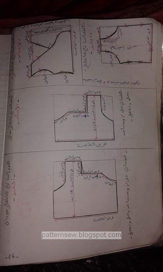 1c7cf84b7b13b درس باترون مقاسات وانواع الرقبات - Pattern Sewing