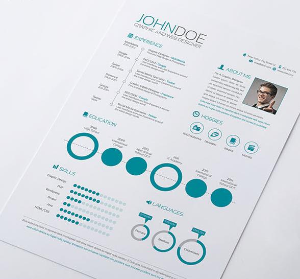 15 free and unique creative design resumes design resume