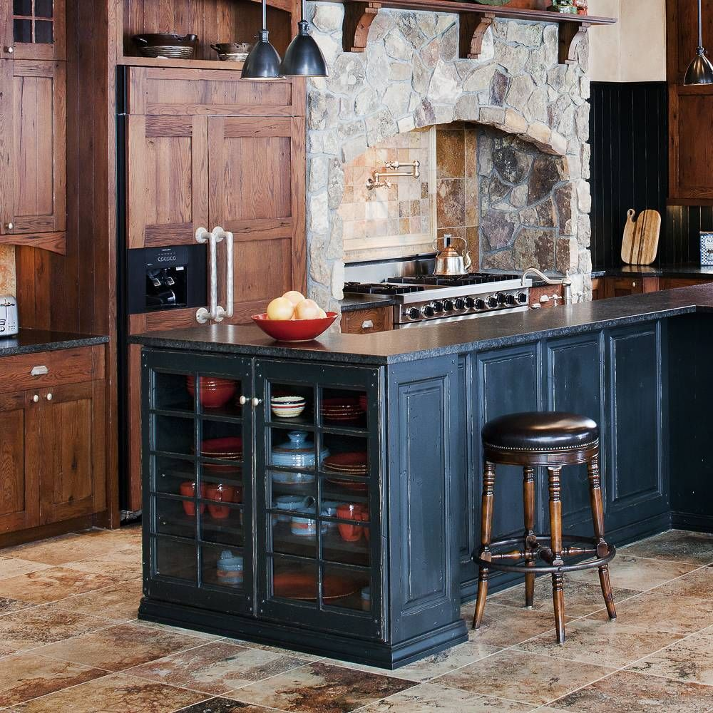 Old World Style Stone And Painted Wood Kitchen Jm Kitchen And Bath Wood Kitchen Kitchen Gallery Old World Kitchens