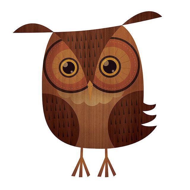 textured brown #owl