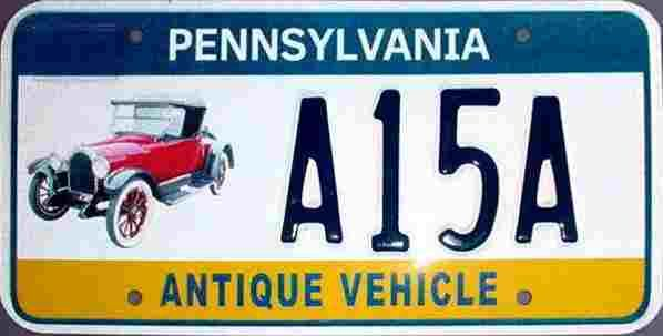 Pa Antique Vehicle License Plate License Plates In 2019 Antique