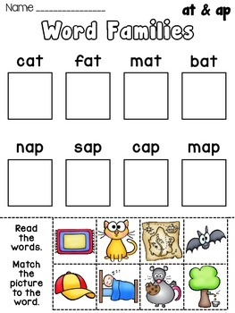 Worksheets Word Family Worksheets Free kindergarten word family worksheets 1000 images about the tree on pinterest word