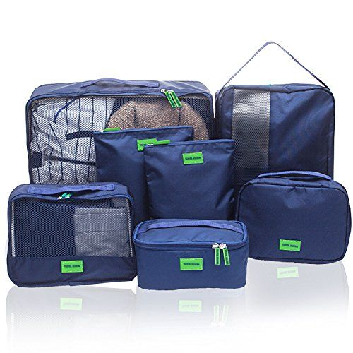 936304049 Hiveseen 7 En 1 Bolsas Organizador De Maletas Viaje, Packing Cube Nylon  Impermeable, Organizar Equipaje Y Mochila Para Guardar Ropa, Ropa Interior,  ...