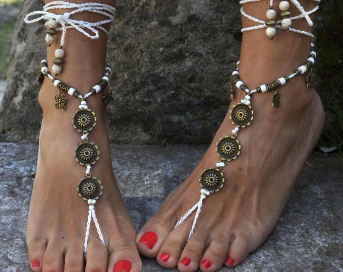 Bracelets de cheville cheville chaîne bijoux boho handmade Gypsy Plage Mariage Pieds Nus Sandales