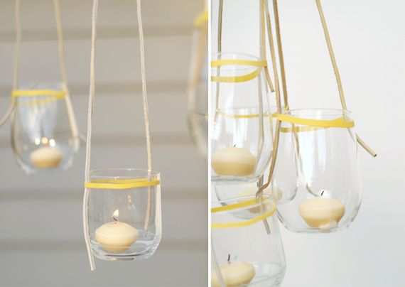 Blonde candle light blonde moments pinterest hanging candles diy easy hanging candles rubber band around the neck of the jar solutioingenieria Images