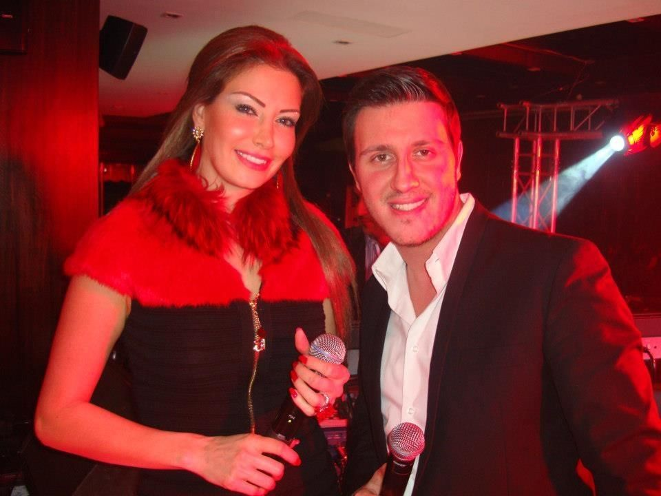 Singing at Qube with Mark Abdel Nour