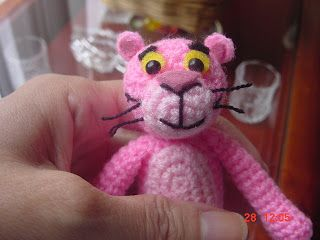 Amigurumi Tutorial Gratis : La pantera rosa amigurumi patrón gratis en español