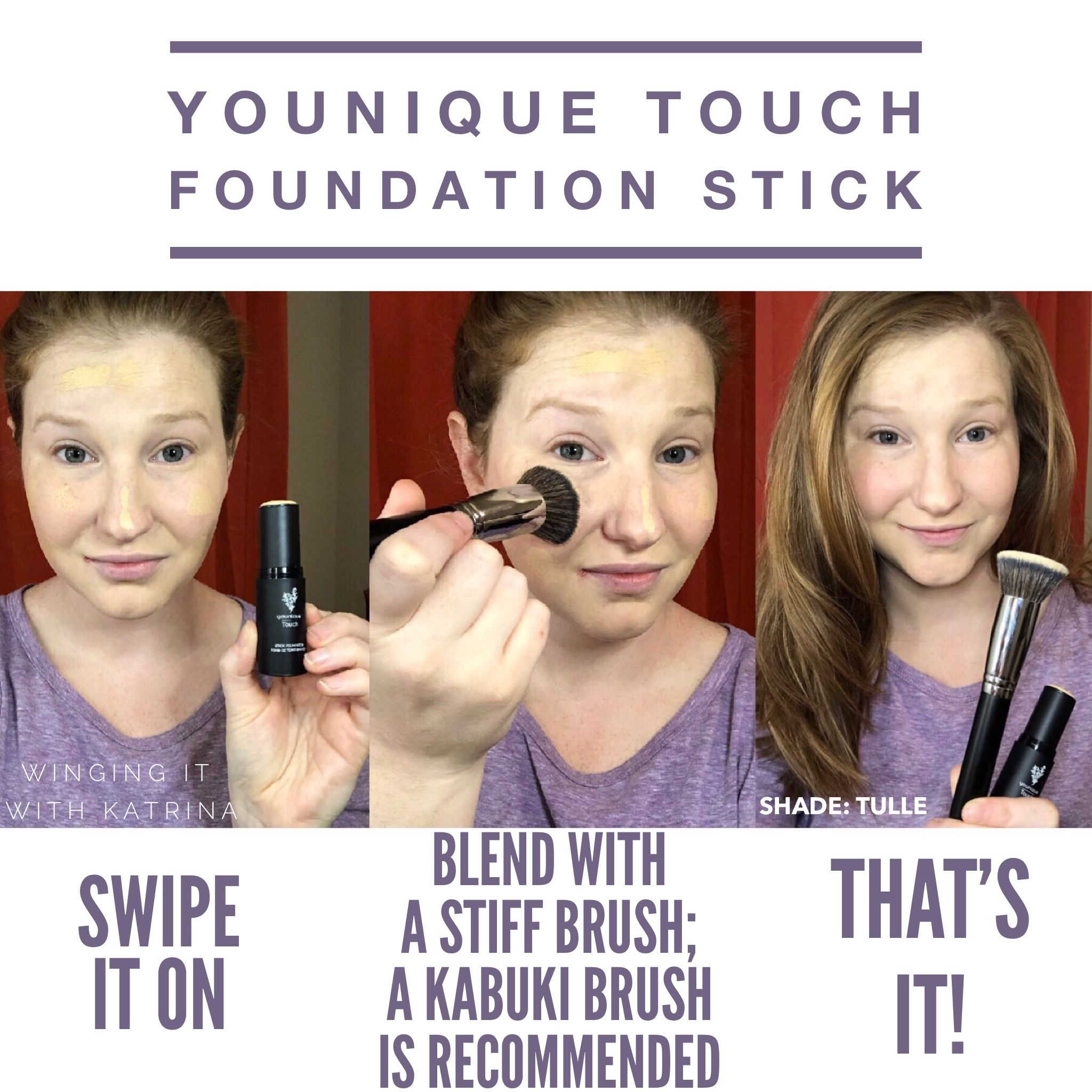 Younique Touch Foundation Stick In The Shade Tulle