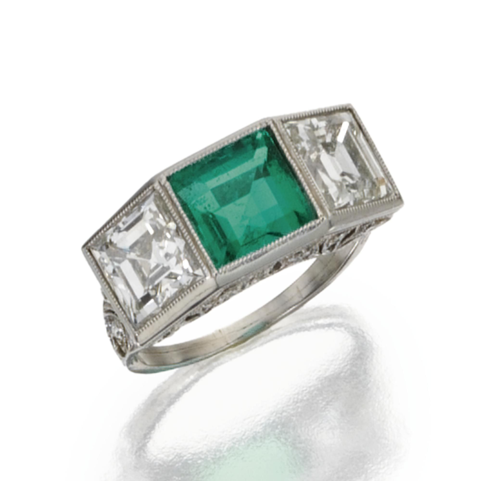 ring portfolio emerald skylight sapphire jewelers golden sunflower boston view larger engagement items image jewelry custom