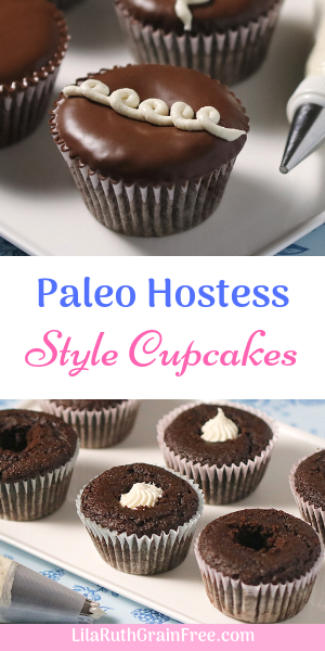 Paleo Hostess-Style Cupcakes These Paleo Hostess=Style Cupcakes taste like the real thing! So delicious and fun to make!
