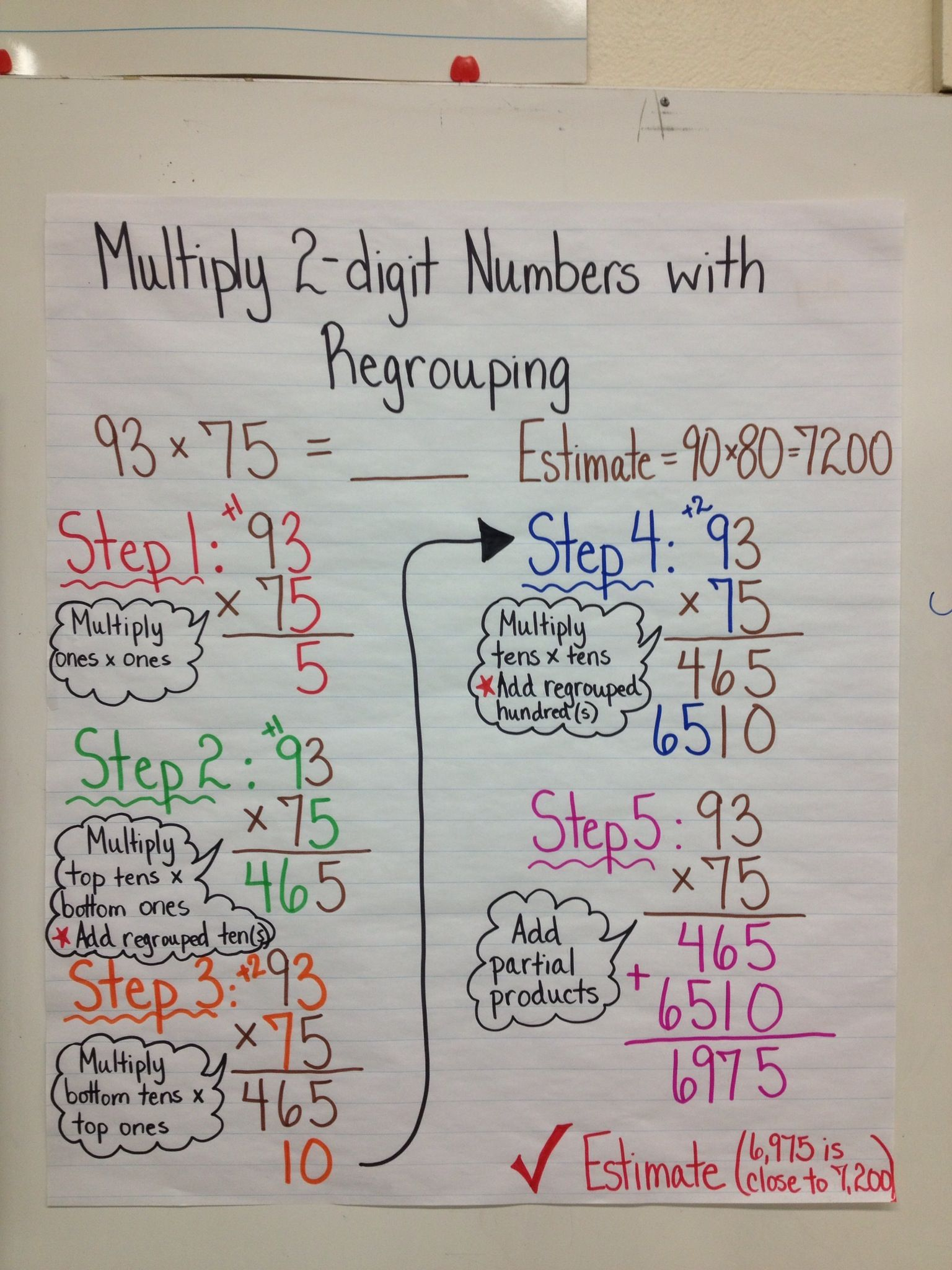 2 Digit Multiplication With Regrouping