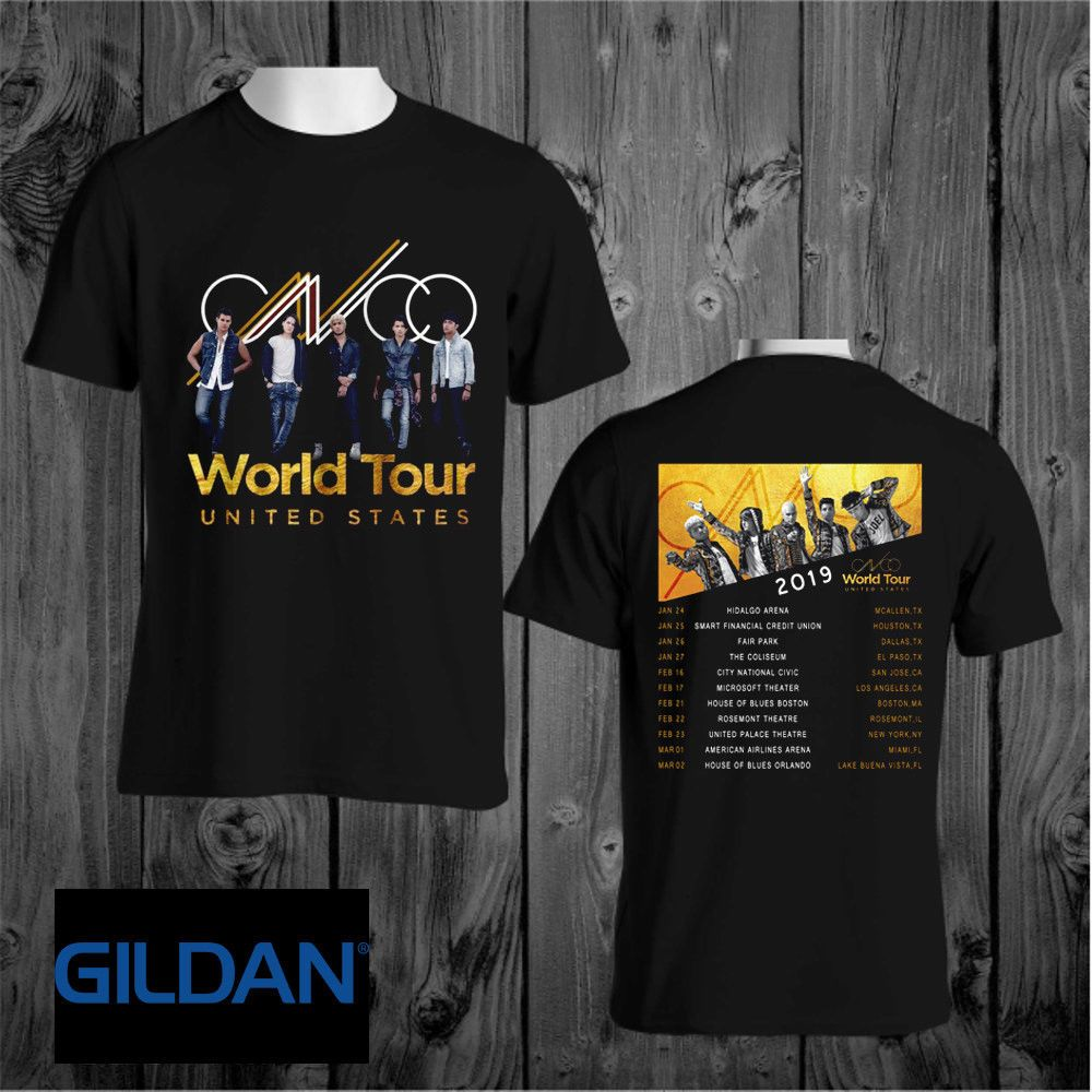 275340765fb8 New CNCO USA World Tour 2019 Gildan Black T Shirt size S to 3XL  fashion   clothing  shoes  accessories  mensclothing  shirts (ebay link)