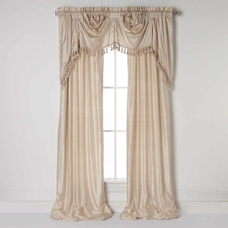 United Curtain Co Dupioni Silk Austrian Tassle Window Treatments