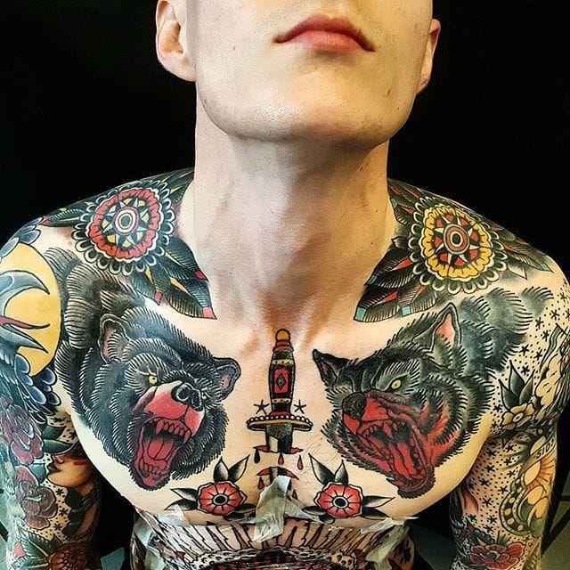 Shoulder Tattoo Design By #JesperJorgensen