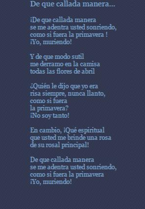 De Que Callada Manera Poema De Nicolás Guillén Poemas Poesía Poesia Hispanoamericana