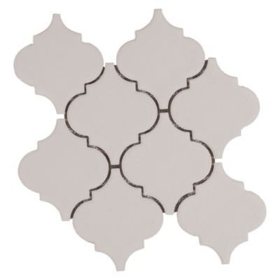 Floor And Decor Arabesque Tile Heirloom Linen Arabesque Porcelain Mosaic  Mosaics Porcelain And