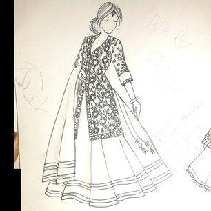 Designer Lehenga Sketches Google Search Dress Sketches Fashion Illustration Fashion Design Sketches