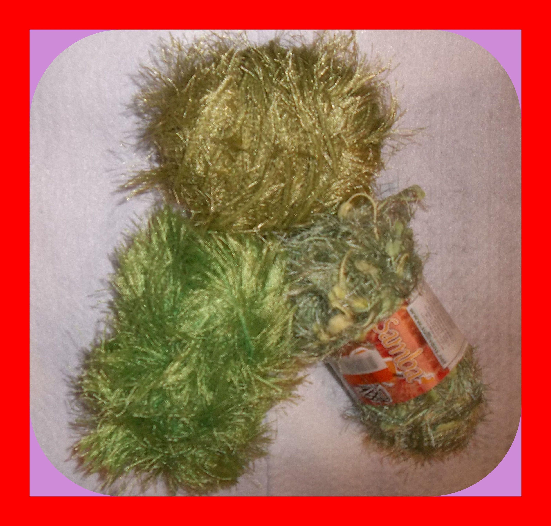 Fancy fur and samba partial skeins fiber art smaller