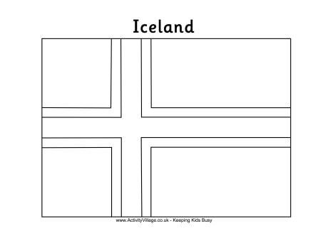 Iceland Flag Colouring Page Iceland Flag Flag Coloring Pages
