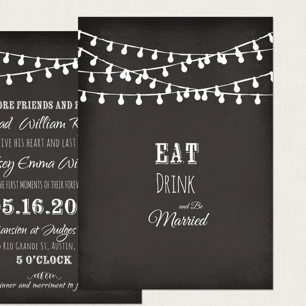 Chalk Board Invitation Template | Posts Free Printable Chalkboard Invitation Template Chalkboard