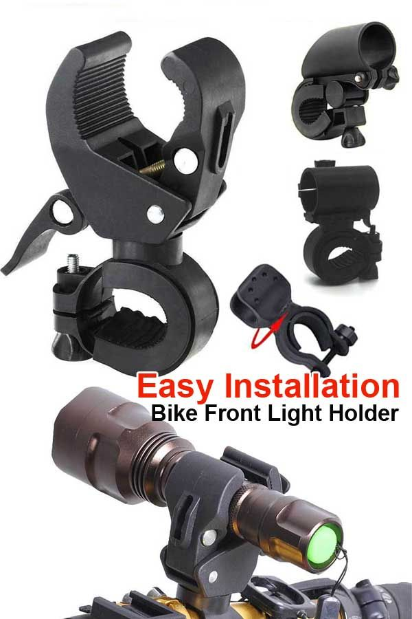 Cycling Bicycle Front Light CREE T6 Tactical Flashlight 5 Mode Bike Torch Clip