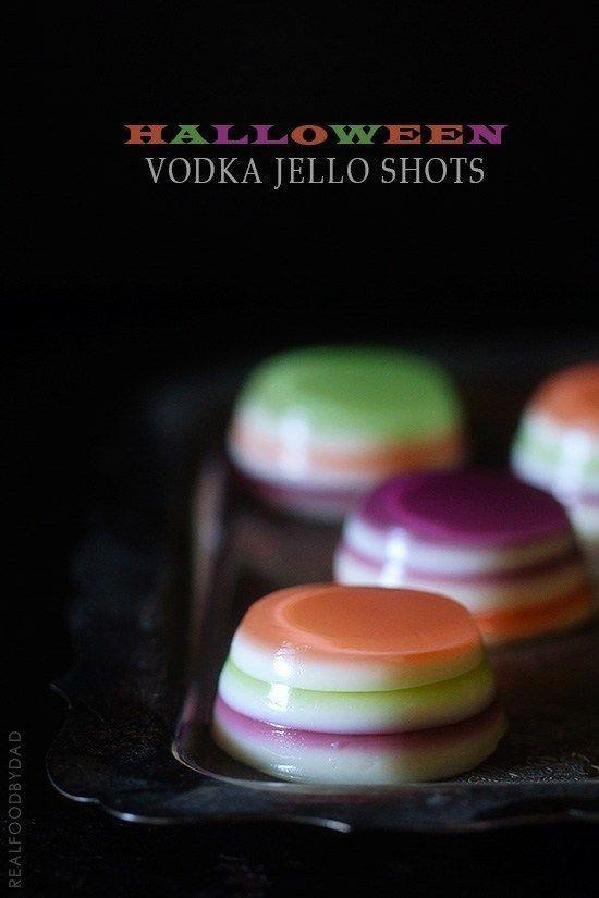 Halloween Jello Shots #halloweenjelloshots Halloween Vodka Jello Shots via Real Food by Dad #jelloshots