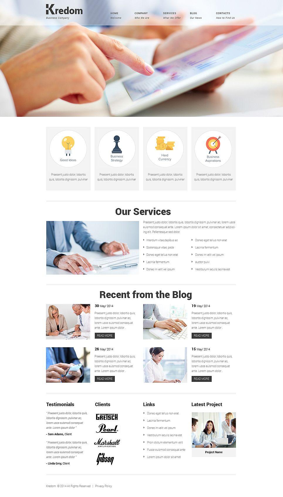 Bring Dein #Business ins #Internet und Präsentiere Dich mit Neuem #Website Template: http://buff.ly/1nzcGpH