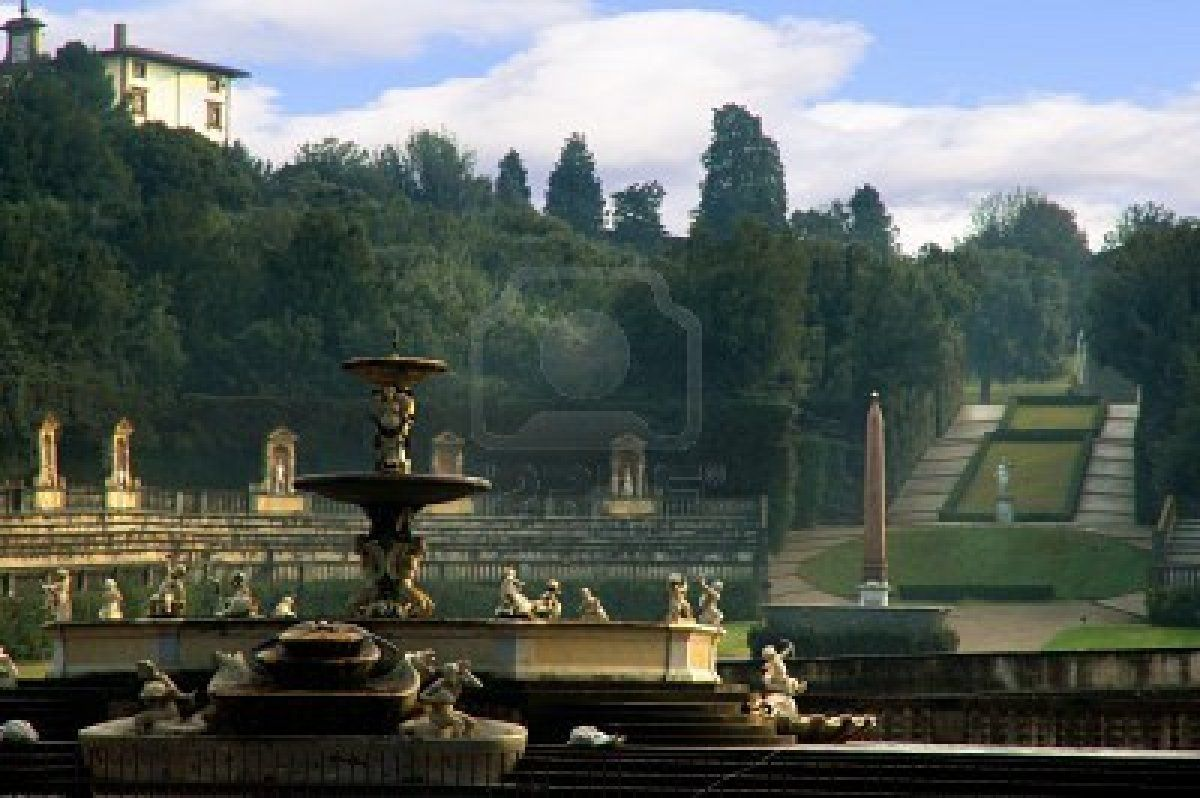 View From Pitti Palace Of The Boboli Gardens With Urns In Florence Florence Travel Florence Italy Best Places In Italy