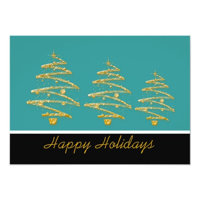 Aqua black christmas tree party invitation |  Aqua black christmas tree party invitation