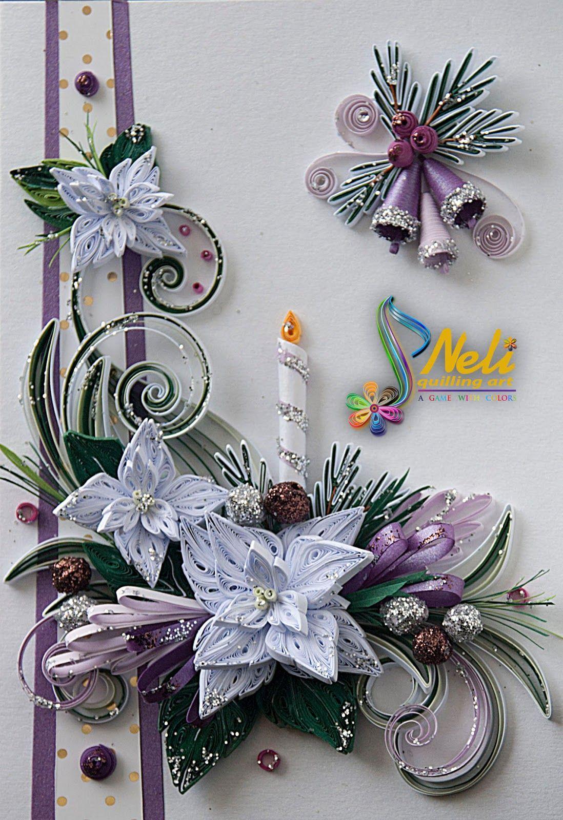 Открытка из канзаши на новый год, поздравление новым годом