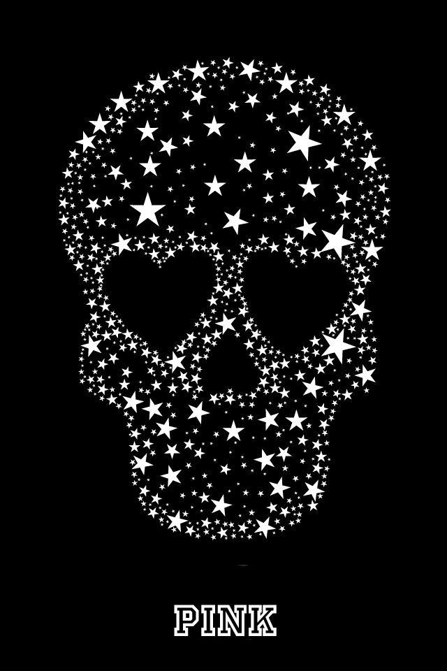 Skull In The Stars Wallpaper Skull Skull Wallpaper Vs Pink
