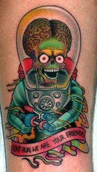 Mars Attacks tattoo