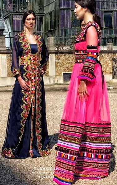 Robe kabyle moderne rose