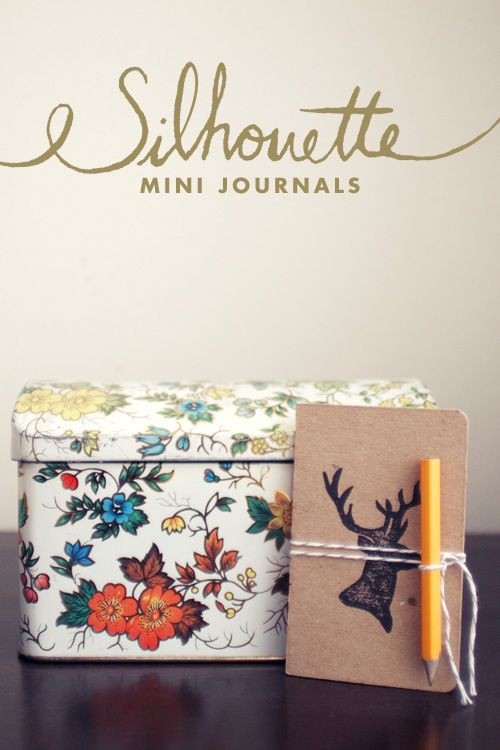 DIY - Mini journals with animal silhouettes handprinted using Linoleum - Full Step-by-Step Tutorial