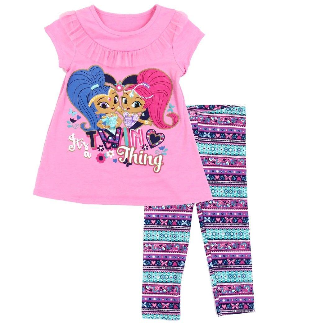 Disney Girls 2 Piece Elsa Screenprint Tunic and Legging Two-Piece Set