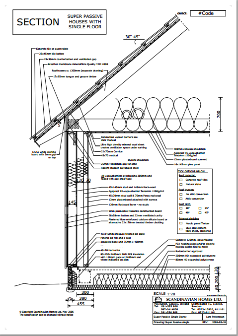 Passive Wall Section From Swedish Home Builder Passive Design Scandinavian Home Passive House