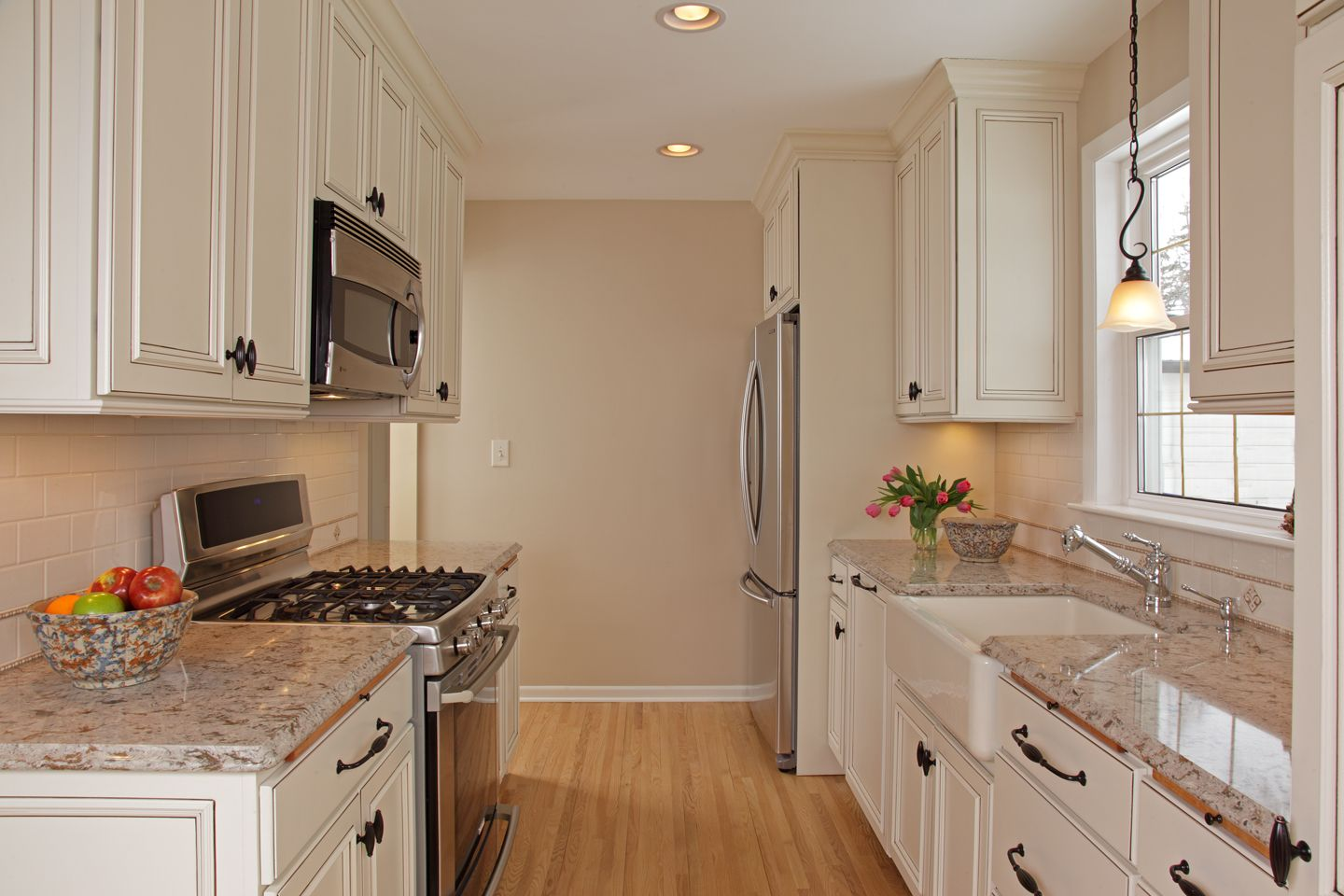 Farmhouse Kitchen White Cabinets farmhouse kitchen sink, granite countertops, white cabinets and