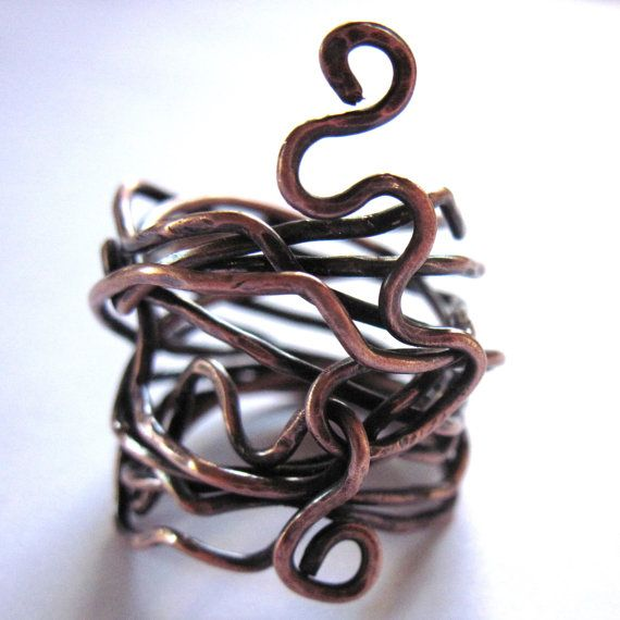 Boho copper ring wire wrapped snake unisex women men fashion boho copper ring wire wrapped snake unisex women men fashion jewelry publicscrutiny Image collections