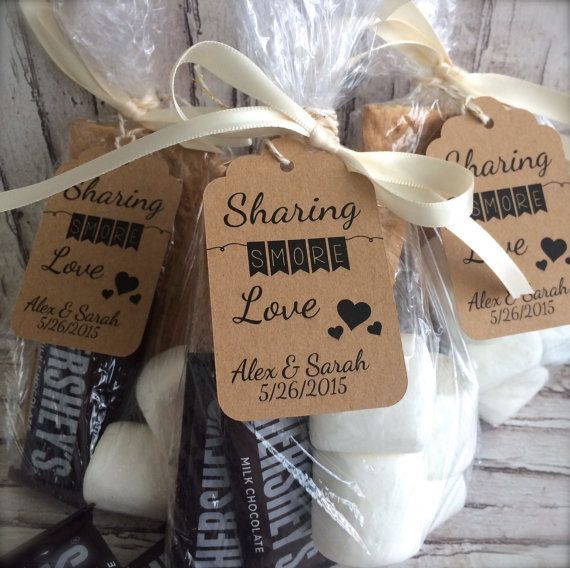 S'mores Wedding Favor Tags