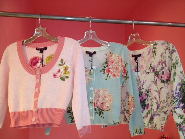 Floral sweaters