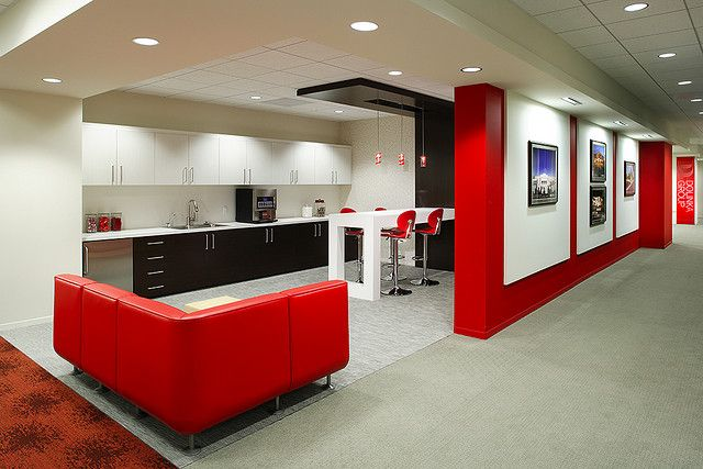Comfortable Facebook Offices Interior Great Design Awesome Interiors Red White