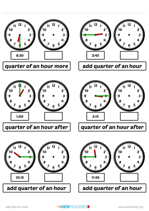 Generate Random Time Arithmetic With Clock Faces Telling Time Printable Arithmetic Math Websites