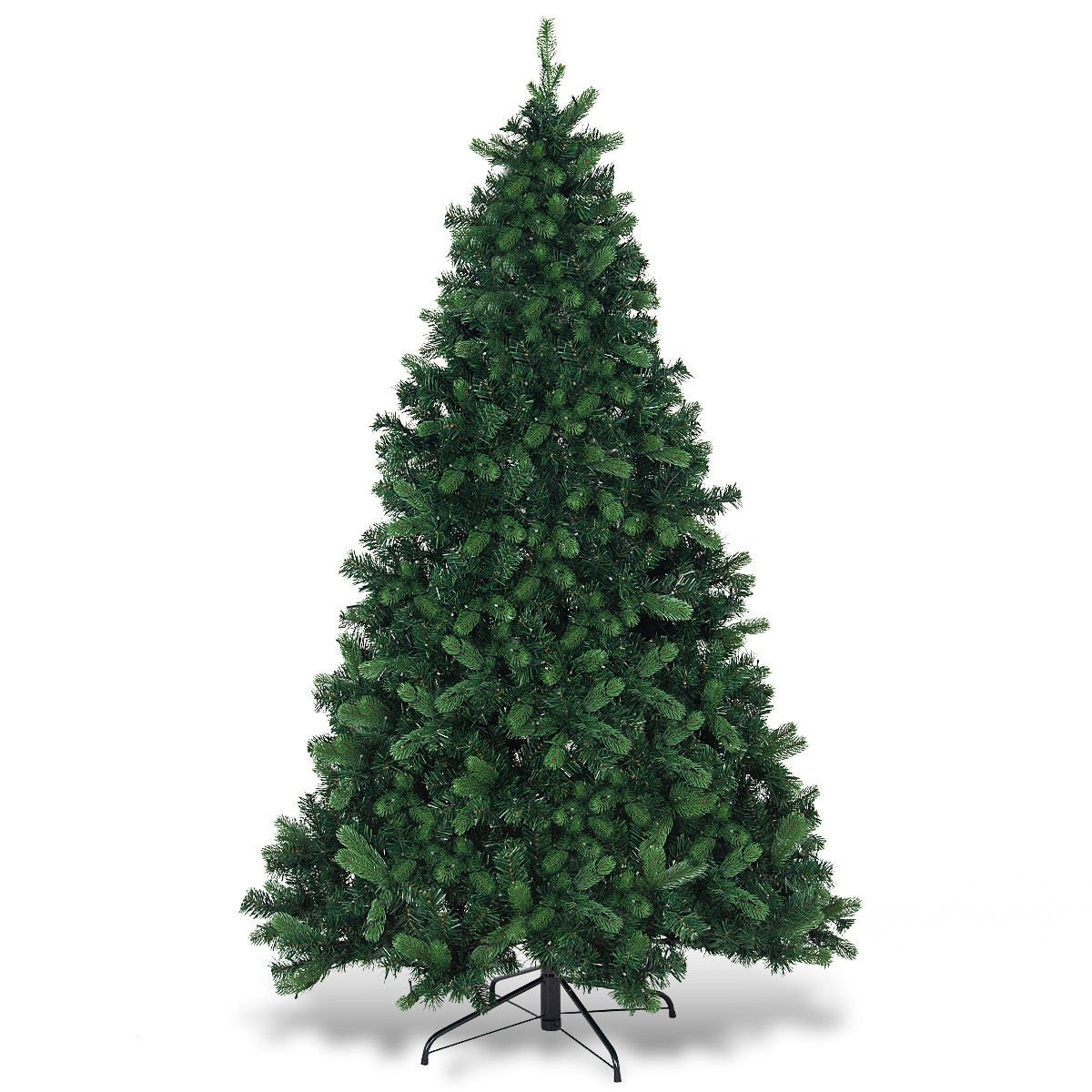6.5 ft PE & PVC Pre-lit Artificial Christmas Tree ...