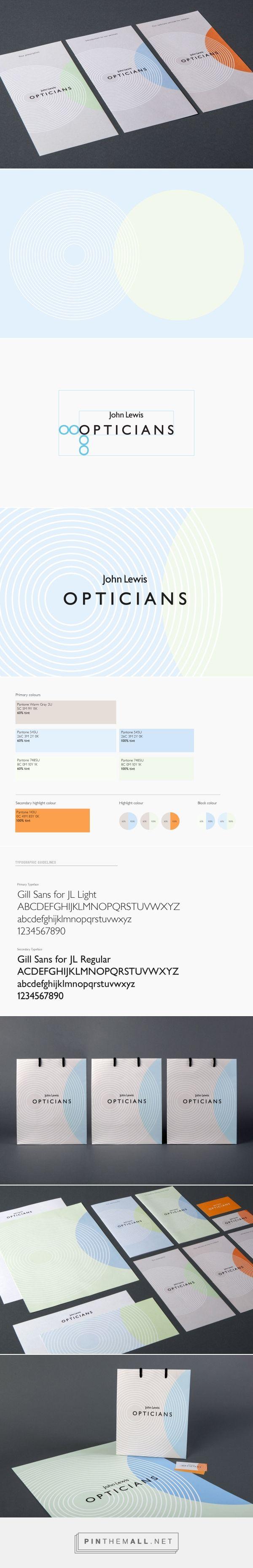john lewis opticians identity egelnick and webb created via rh pinterest co uk Brand Standards Manuals Brand Identity Manual