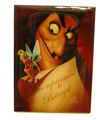 Captain Hook & Tinkerbell Tac Pin Button LIMITED ED. Disney