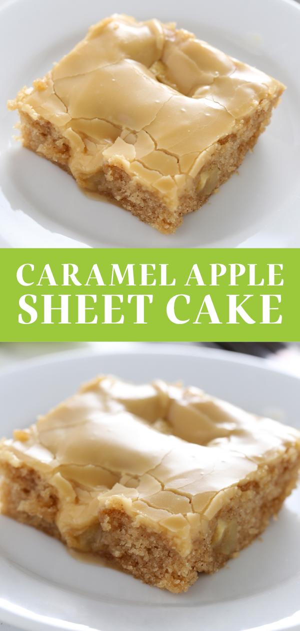 Photo of Salted Caramel Apple Sheet Cake