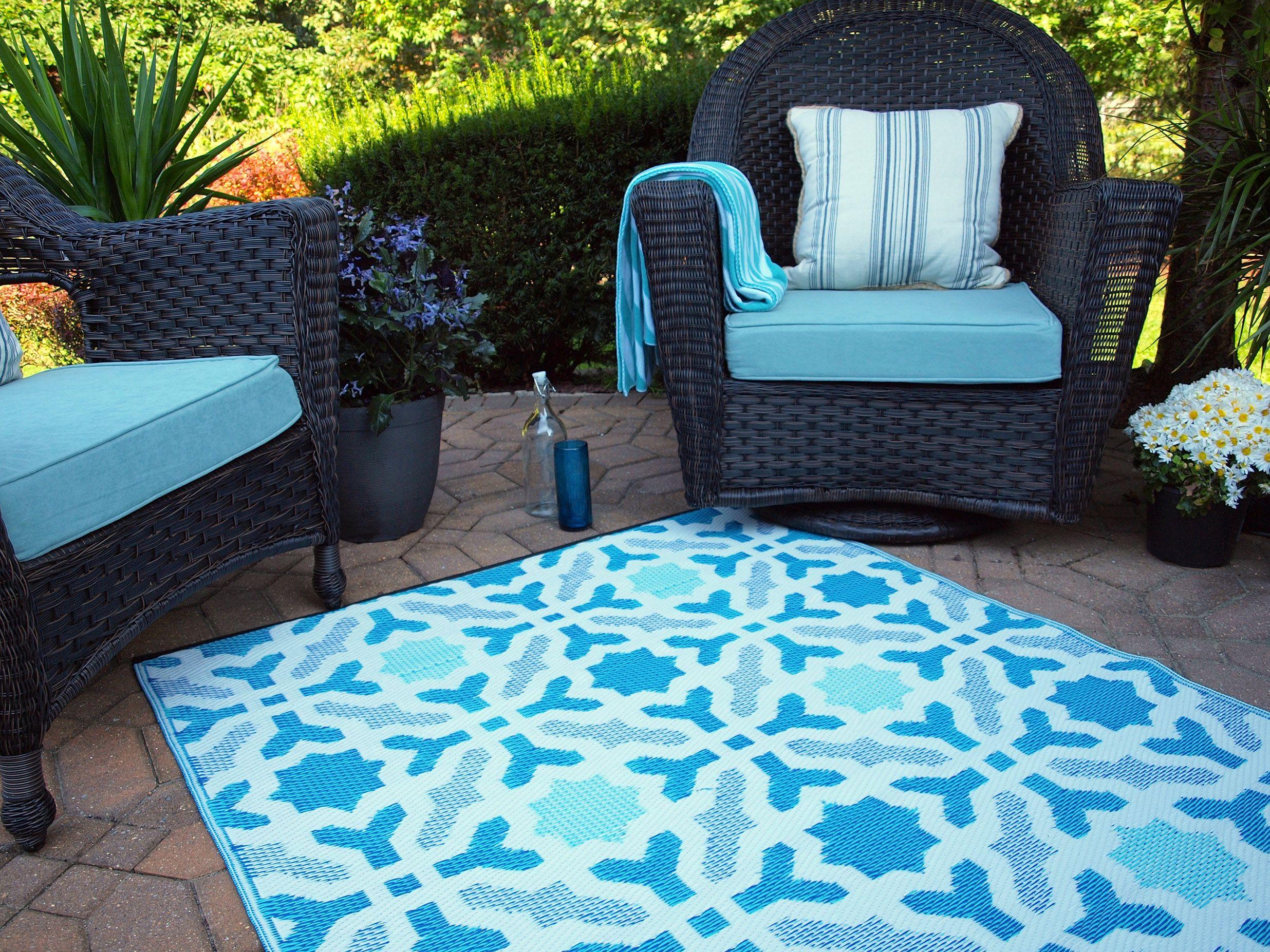 Blue Seville Outdoor Rug By Fab Habitat From Cuckooland Com Garden